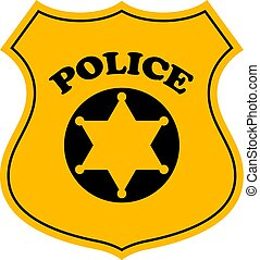 Police officer badge vector icon