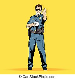Police officer comics character