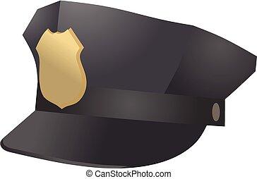 Police officer hat vector
