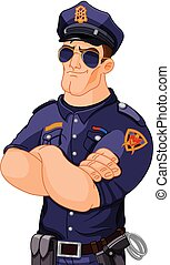 Police Officer - Illustration of police officer