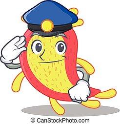 Police officer mascot design of azorhizobium caulinodans ...