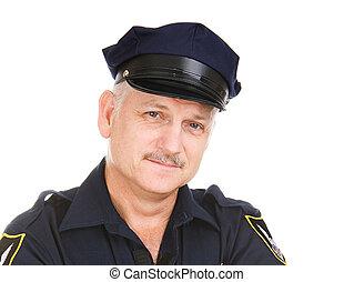 Police Officer Portrait - Closeup portrait of a handsome...