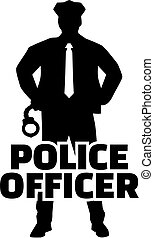 Police officer silhouette