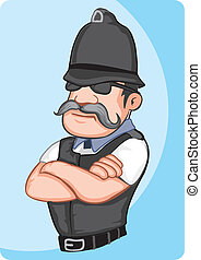 police officer - Tough confident macho policeman with cool ...