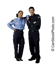 police officers - Full length portrait of police officers...