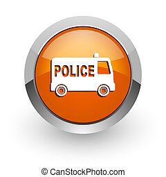 police orange glossy web icon