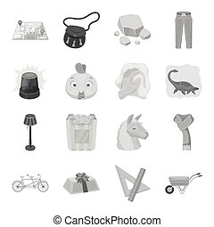 Police, packing, rodeo and other web icon in monochrome style.Animals, education, sports icons in set collection.