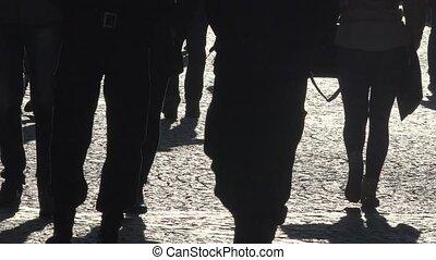 Police patrol in city center - Police patrol in the city...