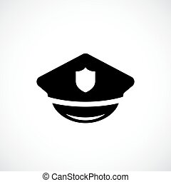 Police peaked cap vector icon