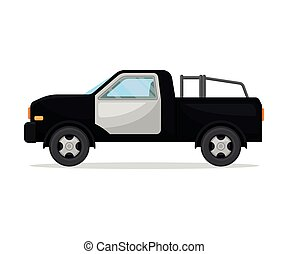 Police pickup. Vector illustration on a white background.