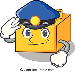 Police plastic building blocks cartoon on toy