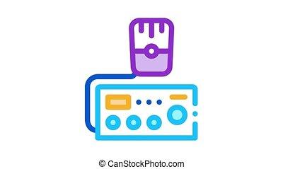police radio Icon Animation. color police radio animated icon on white background