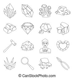 Police set icons in line style. Big collection of police vector symbol stock illustration