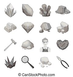 Police set icons in monochrome style. Big collection of police vector symbol stock illustration