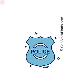 police shield emblem force icon vector design