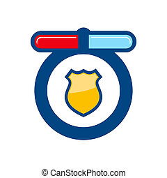 Police sign - Branding identity corporate logo isolated on ...