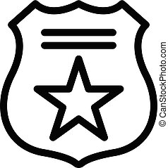 Police sign icon, outline style