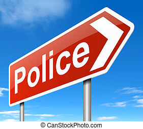 Police sign.