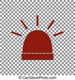police, signe., rouge foncé, arrière-plan., unique, transparent, icône