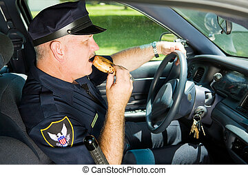 Police Snacking on the Job