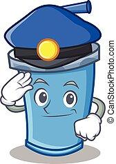 Police soda drink character cartoon