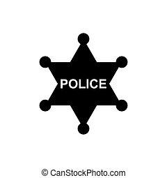 Police star icon. Vector