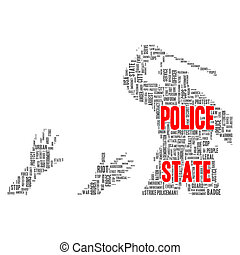 Police state word cloud concept - Police state word cloud...