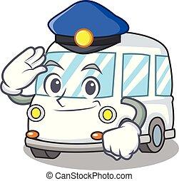 police, style, caractère, dessin animé, ambulance