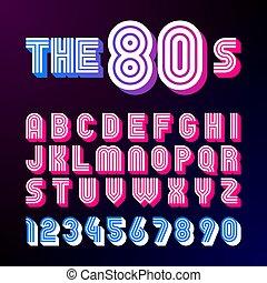 police, style, disco, retro, 80