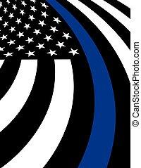 Police Support Flag Background Illustration