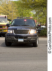 Police SUV - A police sport utility vehicle parked with...