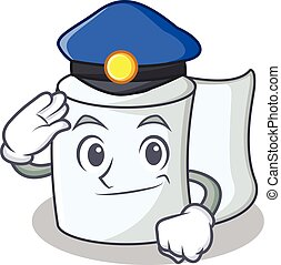 Police tissue character cartoon style