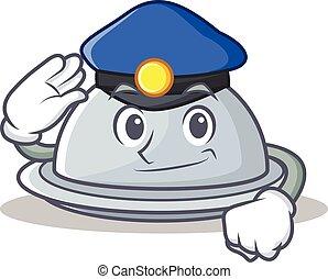 Police tray character cartoon style