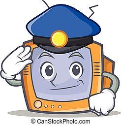 Police TV character cartoon object