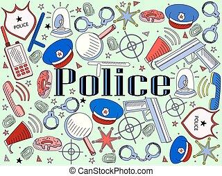 Police vector illustration