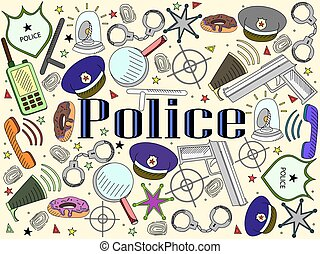 Police vector illustration