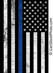 police, vertical, soutien, drapeau, enforcemtnt, textured, droit & loi