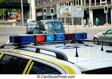 police, voiture., britannique