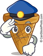 Police wafer cone character cartoon