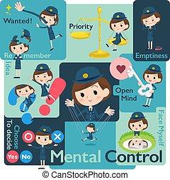 police Women Mental & volition