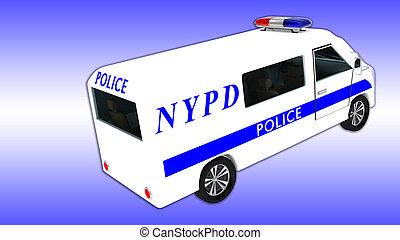 police, -, york, fourgon, département, nouveau, nypd