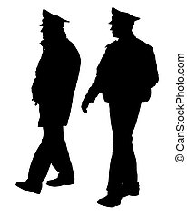 Police_man_walk_one - People of special police force on ...