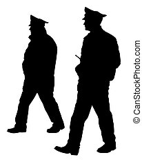 Police_man_walk_two - People of special police force on ...