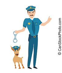 Policeman and his dog