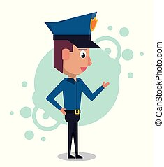 Policeman cartoon design