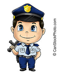 Policeman - Cute cartoon illustration of a policeman