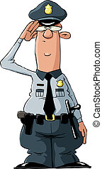 Policeman - A policeman on a white background, vector