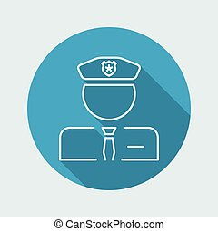 Policeman icon - Thin series