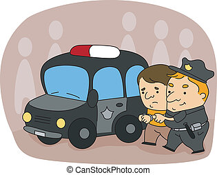 Illustration of a Cop at Work