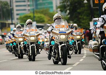 policeman in parade